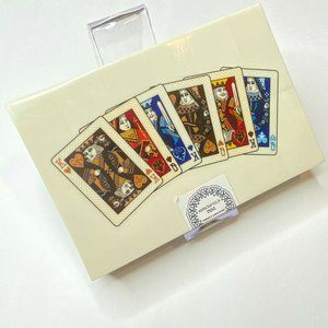 Vintage Playing Card Set with Handcrafted Wood Cas